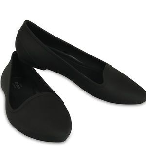 Crocs Eve Pointed Toe Flat Black Women's Size 7